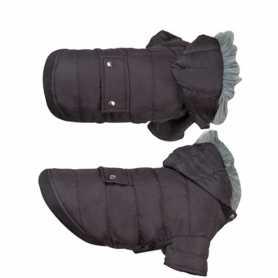 Одежда для собак Flamingo Polar Black, куртка с капюшоном, черный, 38см фото