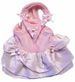 Одежда для собак MonkeyDaze Pink velour dress, велюровое платье, розовый, M фото