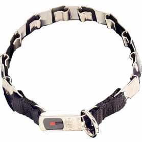Строгий ошейник для собак Sprenger Neck-Tech Fun, пластинчатый, с замком ClicLock, нержавеющая сталь, 60см фото