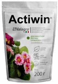 Комплексное минеральное удобрение Actiwin для комнатных растений (универсал) 200г, NPK 9.16.14, Весна-Лето, (Valagro) (Валагро) фото