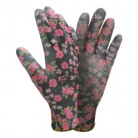 Перчатки ТМ Sigma трикотаж с частичным ПУ покрытием р7 (черные манжет) 1/12, 9446481-7436 фото
