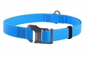 27192 Ошейник WAUDOG Waterproof, водостойкий, пряжка крючок (ширина 25 мм, длина 35-70 см) голубой фото
