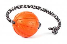 6296 Мячик ЛАЙКЕР  Корд на шнуре, диаметр 7 см фото