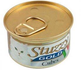 1065706 STUZZY Gold Cat индейки кусочки (turkey cube) мусс корм для кошек, банка, 85 г, C435E фото