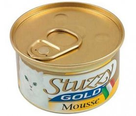 1065707 STUZZY Gold Cat ФОРЕЛЬ (trout) мусс корм для кошек, банка, 85 г, C453E фото