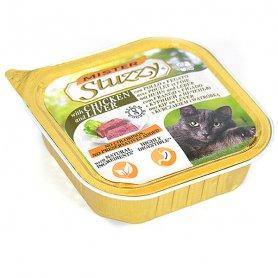 3006002 MISTER STUZZY Cat КУРИЦА ПЕЧЕНЬ (chicken liver) корм для кошек, паштет, 100 г, C6002 фото