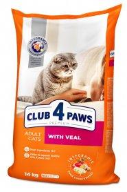 4 лапы Премиум сух телятина коты 1 кг на вес фото