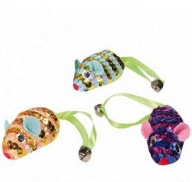 504361Karlie-Flamingo MOUSE SPIRAL мышка спираль кошачья мята игрушка для кошек 6,5см (60 / уп) фото