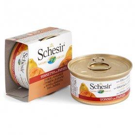613509 Schesir тунец с папайей (Tuna Papaya) консервы для кошек, банка, 75 г., (C350) фото