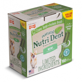 84269 Nylabone NUTRI DENT NATURAL CHICKEN S лакомство для чистки зубов собак 7 кг, курицы 1 шт  фото