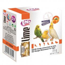 LO-72054'Lolopets'минеральный камень для птиц-апельсин 35гр.12шт/уп фото