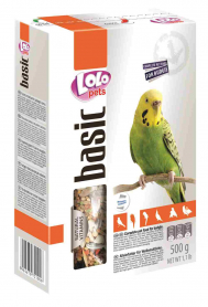 LO-72100'Lolopets'полнорационный корм для волнистых попугаев 500гр.10шт/уп фото