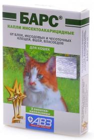 Барс ин.акариц. для котов  1 пипетка  фото