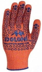 Перчатки с точкой ПВХ оранжевые, 526 фото