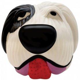 Игрушка для собак винил Бело-черная собака арт.611 фото