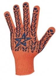Перчатки с ПВХ Звезда оранжево-синие, 564 фото
