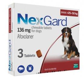 Нексгард 25-50 (XL) таблетка от блох и клещей  фото