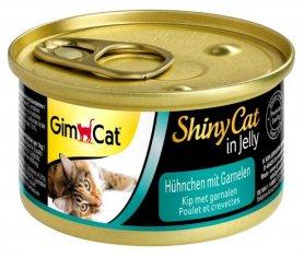 Шайні Кет - консервований корм для котів усіх порід. З куркою та креветками 70 г, 413327 фото