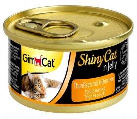 413303 Гимкет ШайниКет  консервированный корм для кошек всех пород, тунец и курица, 70 г фото