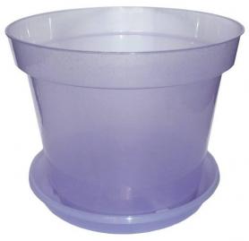 Горшок с поддоном для орхидей, D170, 2.2л, 170х120х140, фиолетовый блеск фото