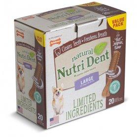 84286 Nylabone NUTRI DENT NATURAL FILET MIGNON L лакомства для чистки зубов соб 7кг, филе миньон 1 шт  фото