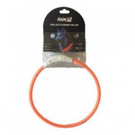 Ошейник АнимАлл LED 50 см оранжевый ( с подзарядкой USB) фото