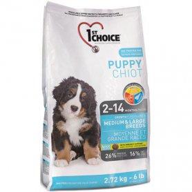 ФЧСЩСК2,72х4шт 1stChoice ЩЕНКИ среднем БОЛЬШИХ (Pup Large Medium) корм для щенков, 2,72кг. фото