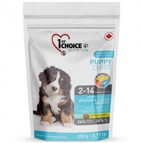 ФЧСЩСК350х16шт 1stChoice ЩЕНКИ среднем БОЛЬШИХ (Pup Large Medium) корм для щенков, 350 г. фото