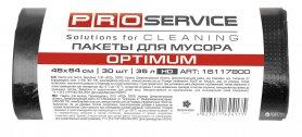 Пакеты для мусора OPTIMUM, черные 45х54, 35л/30шт, PRO service, 16117800 фото