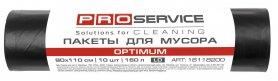 Пакеты для мусора OPTIMUM, черные 90х110, 160л/10шт, PRO service, 16118200 фото