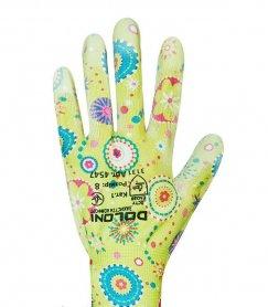 Перчатки для садовых робот DOLONI (полиуретановое покрытие), зеленые, 4547 фото