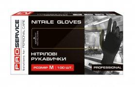 Перчатки нитриловые Professional, черные M, пара, PRO service, 17403700/1 фото