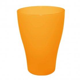 Стакан 0,5л ТМ Алеана (оранжево-прозрачный), 0508 фото