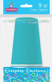 Стаканы бумажные, голубые, 250мл/10шт, EVENTA, 38220700 фото