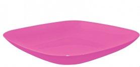Тарелка 190*190*28 ТМ Алеана, 0,5л (темно-розовый), 3873 фото