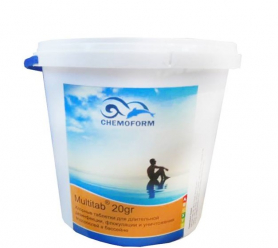 Средство для ухода за водой Multitabs All-in-one 20г, уп. 1кг, Chemoform (Германия) фото