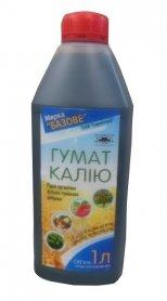 Органическое удобрение Гумат Калия, 1л, Марка 'Базове' фото