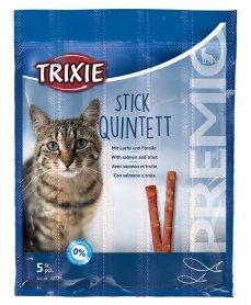 42725 Палочки д/ кошек Premio Quadro-Sticks лосось/форель 5 шт  фото