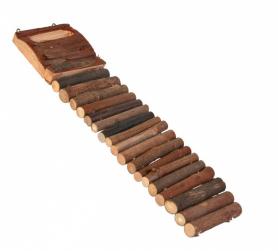 6106 Лестница д/грызунов деревянная, 27,5*7 см фото