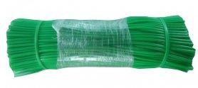 Агро-трубка для подвязки (кембрик) эластичная, D 4мм., полоски по 35см - 385шт, Agrario фото