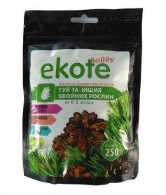 Комплексное минеральное удобрение для туй и хвойных растений, 4-5м, 250г, Ekote фото