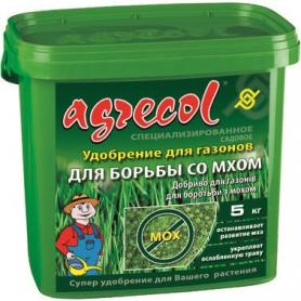 Комплексное минеральное удобрение от мха на газоне Agrecol (Агрекол), NPK 15.0.0, 5кг, 30235 фото