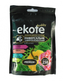 Комплексное минеральное универсальное удобрение  Premium, 6м, 250г, Ekote фото