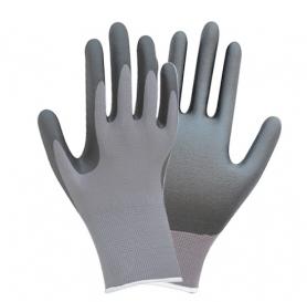 Перчатки ТМ Sigma трикотаж с частичным нитриловым покрытием р10 (серые манжеты) 1/12, 9443521-3743 фото