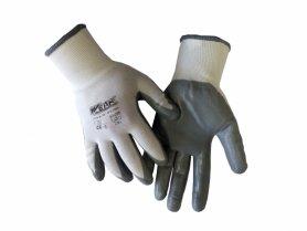 Перчатки трикотажные, белые, нитриловое покрытие, р.8, TM WERK, 74413 фото