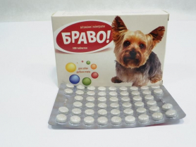 Витамины Браво д/собак мелких пород № 300 фото