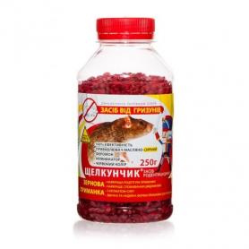 Родентицид зерновая смесь от грызунов Щелкунчик, красная, 250г фото
