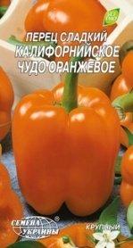Семена перца сладкого Калифорнийское чудо оранжевое, 0.3г, Семена Украины фото
