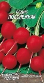 Семена редиса Подснежник, 3г, Семена Украины фото