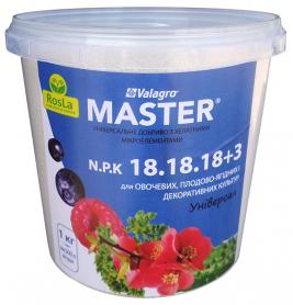 Комплексное минеральное удобрение Master (Мастер), 1кг, NPK 18.18.18+3Mg, TM ROSLA (Росла) фото